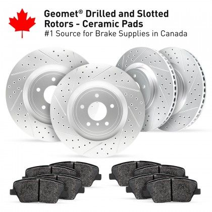 Cross Drilled And Slotted Rotors Kits Image One