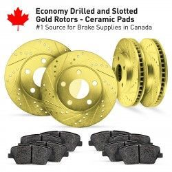 Cross Drilled And Slotted Rotors Kits
